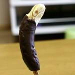 チョコバナナで「ムンクの叫び」をつくる