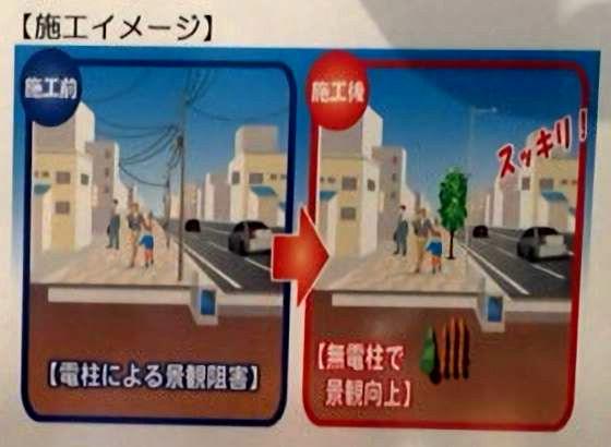 東京都千代田区の白山通りの工事看板