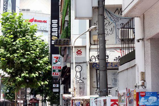 渋谷のインベーダーアート