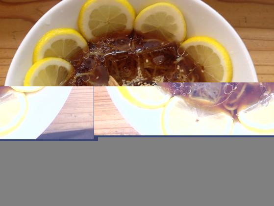 東京のりんすず食堂の冷やしレモンラーメン
