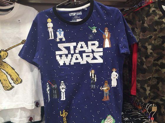 スターウォーズのドット絵のゲーム風Tシャツ(こども用)