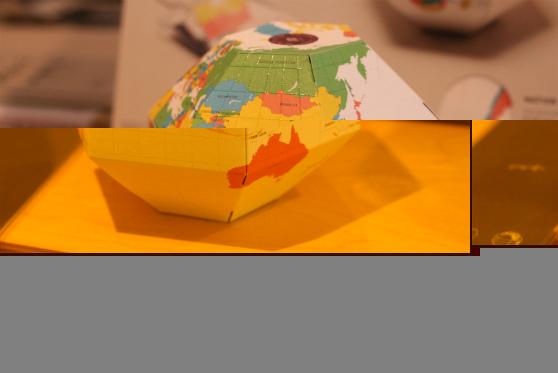 西荻紙店(にしおぎしてん)紙の地球儀