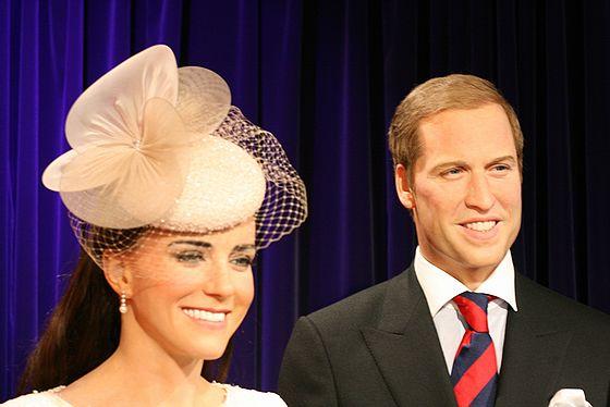 お台場のマダムタッソーのウィリアム王子とキャサリン妃