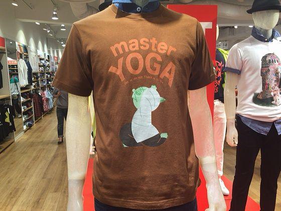 スターウォーズのヨーダのヨガTシャツ