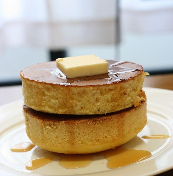 分厚いホットケーキの作り方