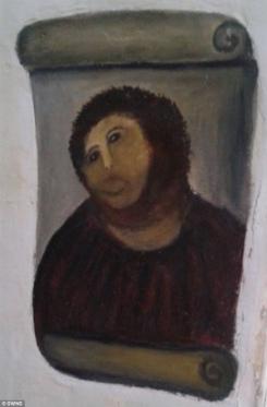 失敗したフレスコ画の修復