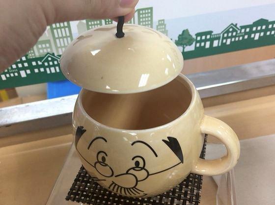 サザエさん展のグッズの波平マグカップ