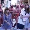 新宿の街を歩いていたら、人体模型の集団があらわれたっ!