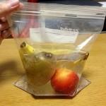 ためしてガッテンの「炭酸フルーツ(炭酸水漬け)」を作ってみた(キウイ、バナナ、プラム)