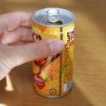 Twitterで拡散中の「つぶ入りコーンスープ缶のつぶを残さず飲む方法」