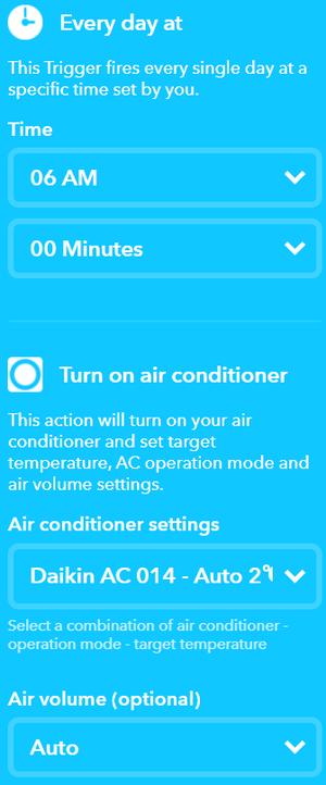 エアコンを毎朝6時にオン