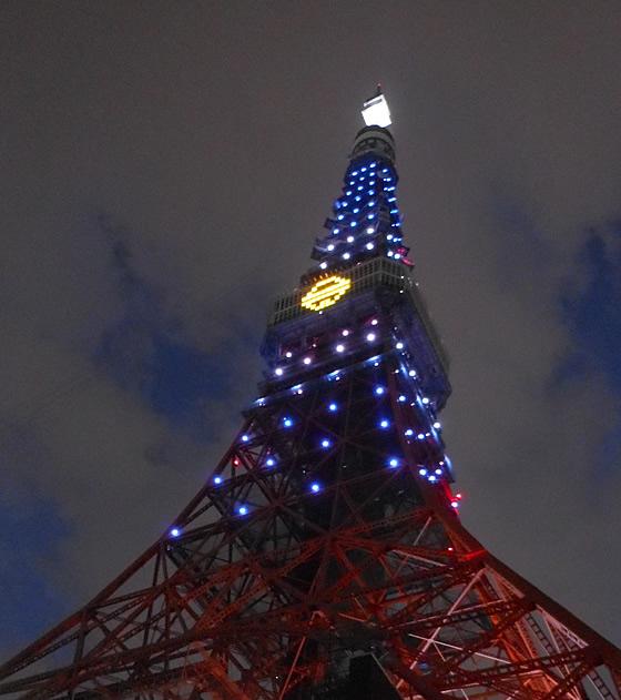 東京タワードラえもんスペシャルライトアップ