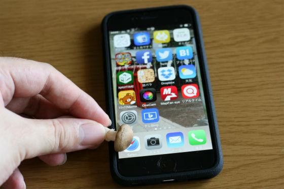 iPhone6はしめじでも動かせる