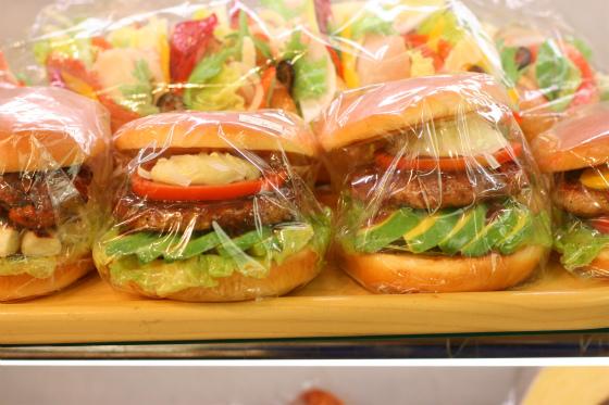 食品サンプル専門店のまいづるのハンバーガー