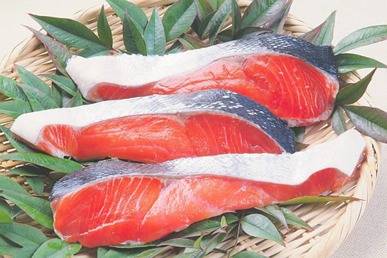 サケは白身魚