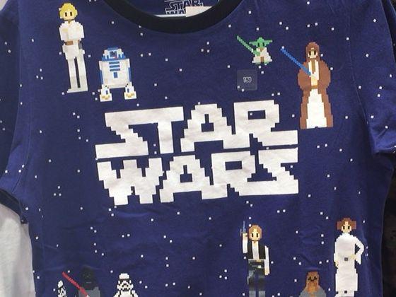 スターウォーズのドット絵のゲーム風Tシャツ